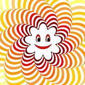 stock photo of animated cartoon  - Cartoon smiling sun - JPG