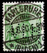 Isolated German Postage Stamp