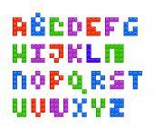 Plastic constructor alphabet letters