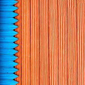 picture of red siding  - Composition with blue and red structure wooden planks - JPG