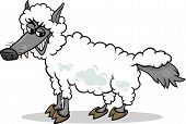 Wolf In Sheeps Clothing Cartoon