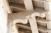 picture of corbel  - Vintage architectural detail of old building with corbel - JPG