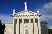 Columns of cathedral in Vilnius