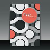 Flyer or Cover Design with Colorful Circles