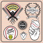 Set Of Vector Emblems And Signs For Baseball