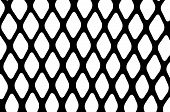 picture of metal grate  - Texture of a black metal grill on white blackground - JPG