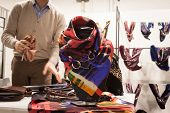 Silk Neckerchief On Display At Mipap Trade Show In Milan, Italy