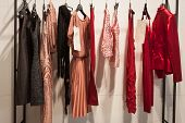Elegant Dresses On Display At Mipap Trade Show In Milan, Italy