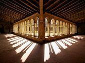 Cloister Shadows Saint Emilion Abbey Church France