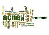 stock photo of papule  - Acne word cloud image with hi - JPG