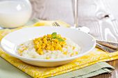 Risotto with baked corn