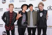 LAS VEGAS - MAY 18:  5 Seconds of Summer arrives to the Billboard Music Awards 2014  on May 18, 2014