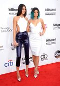 LAS VEGAS - MAY 18:  Kendall Jenner & Kylie Jenner arrives to the Billboard Music Awards 2014  on Ma