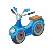 motorcycle isolated on white background (vector illustration)