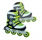 roller skate isolated on white background (vector illustration)