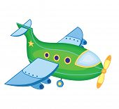 airplane isolated on white background (vector illustration)