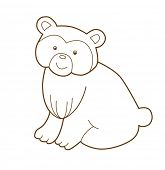 bear isolated on white (vector illustration)