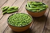 Raw Peas and Peapods
