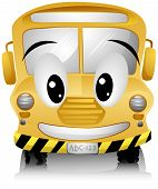 stock photo of vacuum pump  - A Smiling School Bus with Clipping Path - JPG
