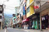 Maldonado Street in Banos, Ecuador