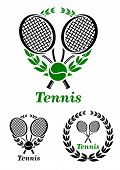 Tennis sporting emblem or logo