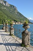 View to the lake Como