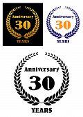 Anniversary jubilee symbol with laurel wreth