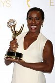 LOS ANGELES - AUG 16:  Uzo Aduba at the 2014 Creative Emmy Awards - Press Room at Nokia Theater on A