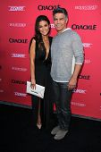 LOS ANGELES - AUG 14:  Emmanuelle Chriqui, Esai Morales at the Crackle Presents the Premieres of