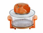Empty Orange Electric Convection Oven