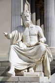 Vienna - philosopher statue for the Parliament - Xenophanes