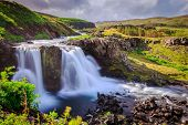 Waterfall in Western Iceland