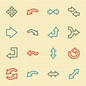 Arrows web icons, retro color