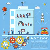 Vector Back to School Infographic Template