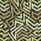 Graffiti grunge geometric seamless pattern