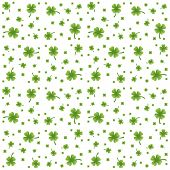 Seamless Pattern With Clovers (four-leaves, Shamrocks)
