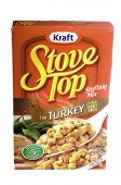 West Point - August 17, 2014: Box of KRAFT Stove Top Stuffing for turkey, made with real turkey brot