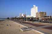 Pedestrian Walkway At Durban Beachfront, South Africa