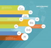 Flat line infographics design