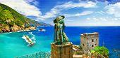 Italian holidays - panorama of Monterosso al mare (Liguria)