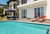 beautiful terrace with swimming pool