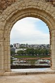 View Of Urban Port From Angers Castle