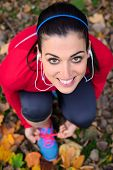 Cheerful Female Athlete Ready For Running