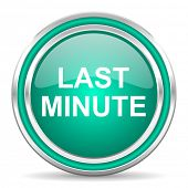 last minute green glossy web icon