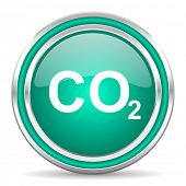 pic of carbon-dioxide  - carbon dioxide green glossy web icon - JPG