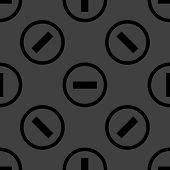 minus web icon. flat design. Seamless pattern.