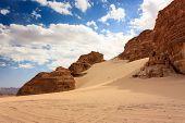 Desert Rocks And Sand