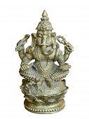 Hindu Deity Ganesha Statue.isolated.