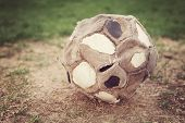 Very old well used soccer ball