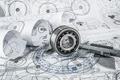 pic of ball bearing  - Technical drawings with the Ball bearings - JPG